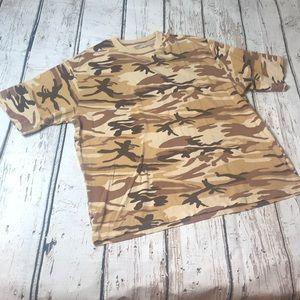 Early 2000s Finish Line Camo Print XL T-Shirt